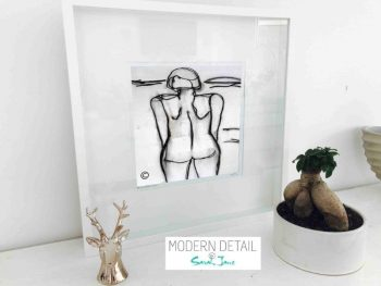 Sarah Jane Modern Art Print called Linear III in a small white shadowbox frame - Modern Detail By Sarah Jane