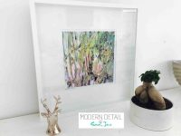 Sarah Jane Modern Art Print called New Life IVb in a small white shadowbox frame - Modern Detail By Sarah Jane