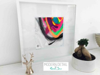 Sarah Jane Modern Art Print called Noisy Mind X in a small white shadowbox frame - Modern Detail By Sarah Jane