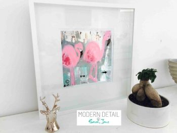 Sarah Jane Modern Art Print called On the Move II in a small white shadowbox frame - Modern Detail By Sarah Jane