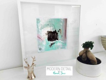 Sarah Jane Modern Art Print called On the Move VIc in a small white shadowbox frame - Modern Detail By Sarah Jane