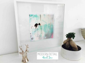 Sarah Jane Modern Art Print called On the Move X in a small white shadowbox frame - Modern Detail By Sarah Jane