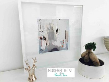 Sarah Jane Modern Art Print called On the Move XIIIa in a small white shadowbox frame - Modern Detail By Sarah Jane