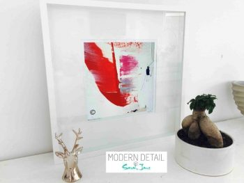 Sarah Jane Modern Art Print called On the Move XX in a small white shadowbox frame - Modern Detail By Sarah Jane