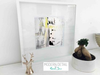 Sarah Jane Modern Art Print called On the Move XXXI in a small white shadowbox frame - Modern Detail By Sarah Jane