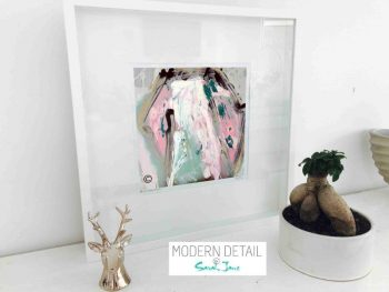 Sarah Jane Modern Art Print called One of Us VIc in a small white shadowbox frame - Modern Detail By Sarah Jane