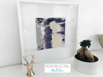Sarah Jane Modern Art Print called One of Us XIIId in a small white shadowbox frame - Modern Detail By Sarah Jane