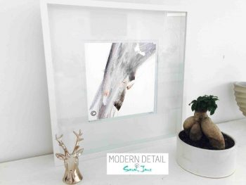 Sarah Jane Modern Art Print called Peach II in a small white shadowbox frame - Modern Detail By Sarah Jane