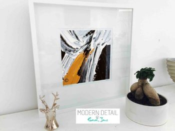 Sarah Jane Modern Art Print called Playful Pair IIIc in a small white shadowbox frame - Modern Detail By Sarah Jane