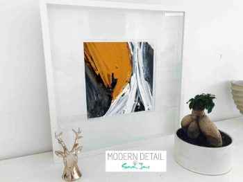 Sarah Jane Modern Art Print called Playful Pair IIc in a small white shadowbox frame - Modern Detail By Sarah Jane