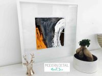 Sarah Jane Modern Art Print called Playful Pair IVc in a small white shadowbox frame - Modern Detail By Sarah Jane