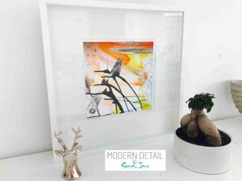 Sarah Jane Modern Art Print called Reaching Out II in a small white shadowbox frame - Modern Detail By Sarah Jane