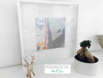 Sarah Jane Modern Art Print called Reaching Out LIII in a small white shadowbox frame - Modern Detail By Sarah Jane