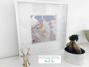 Sarah Jane Modern Art Print called Reaching Out LIIf in a small white shadowbox frame - Modern Detail By Sarah Jane