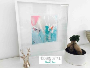 Sarah Jane Modern Art Print called Reaching Out LV in a small white shadowbox frame - Modern Detail By Sarah Jane