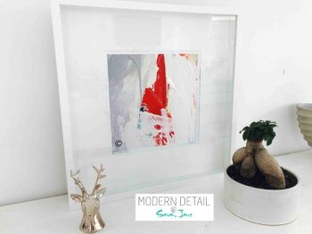 Sarah Jane Modern Art Print called Reaching Out VII in a small white shadowbox frame - Modern Detail By Sarah Jane