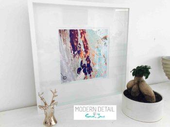 Sarah Jane Modern Art Print called Reaching Out XVIIa in a small white shadowbox frame - Modern Detail By Sarah Jane