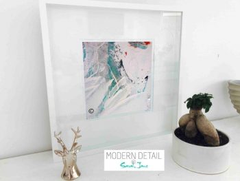 Sarah Jane Modern Art Print called Reaching Out XXXII in a small white shadowbox frame - Modern Detail By Sarah Jane