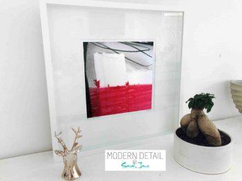 Sarah Jane Modern Art Print called Regal IV in a small white shadowbox frame - Modern Detail By Sarah Jane
