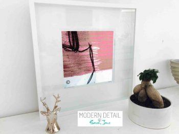 Sarah Jane Modern Art Print called Regal Vb in a small white shadowbox frame - Modern Detail By Sarah Jane