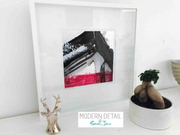 Sarah Jane Modern Art Print called Regal X in a small white shadowbox frame - Modern Detail By Sarah Jane