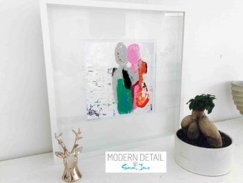 Sarah Jane Modern Art Print called Relax I in a small white shadowbox frame - Modern Detail By Sarah Jane