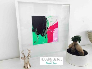 Sarah Jane Modern Art Print called Relax III in a small white shadowbox frame - Modern Detail By Sarah Jane