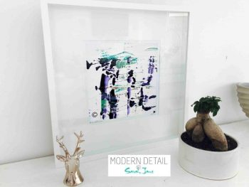 Sarah Jane Modern Art Print called Relax XVI in a small white shadowbox frame - Modern Detail By Sarah Jane