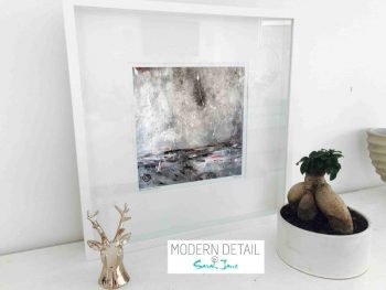 Sarah Jane Modern Art Print called Storm I in a small white shadowbox frame - Modern Detail By Sarah Jane