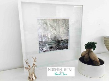 Sarah Jane Modern Art Print called Storm III in a small white shadowbox frame - Modern Detail By Sarah Jane