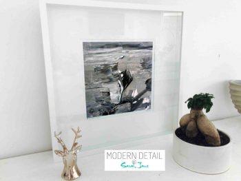 Sarah Jane Modern Art Print called Tenderness X in a small white shadowbox frame - Modern Detail By Sarah Jane