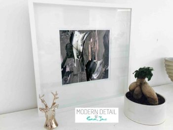Sarah Jane Modern Art Print called Tenderness XI in a small white shadowbox frame - Modern Detail By Sarah Jane