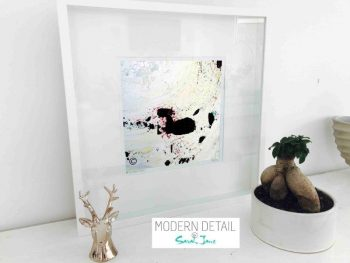 Sarah Jane Modern Art Print called Unconditional Love II in a small white shadowbox frame - Modern Detail By Sarah Jane