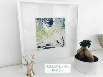 Sarah Jane Modern Art Print called Unconditional Love Ia in a small white shadowbox frame - Modern Detail By Sarah Jane