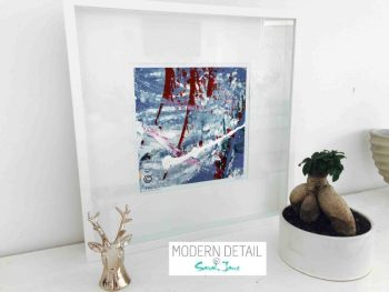 Sarah Jane Modern Art Print called Unconditional Love Vb in a small white shadowbox frame - Modern Detail By Sarah Jane