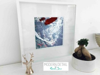 Sarah Jane Modern Art Print called Unconditional Love XVIb in a small white shadowbox frame - Modern Detail By Sarah Jane