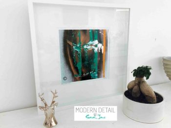Sarah Jane Modern Art Print called United We Stand II in a small white shadowbox frame - Modern Detail By Sarah Jane
