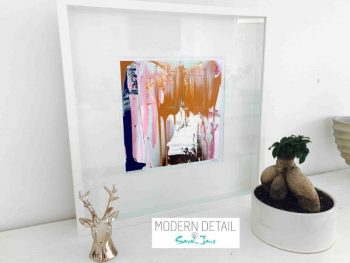 Sarah Jane Modern Art Print called United We Stand IIIa in a small white shadowbox frame - Modern Detail By Sarah Jane