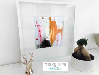 Sarah Jane Modern Art Print called United We Stand V in a small white shadowbox frame - Modern Detail By Sarah Jane