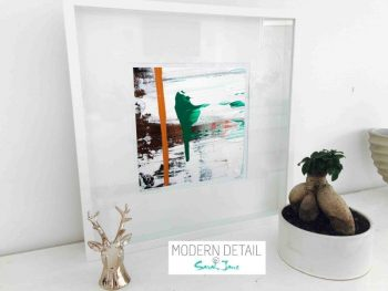 Sarah Jane Modern Art Print called United we Stand XVIII in a small white shadowbox frame - Modern Detail By Sarah Jane