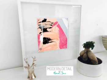 Sarah Jane Modern Art Print called Wanderers VI in a small white shadowbox frame - Modern Detail By Sarah Jane