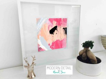 Sarah Jane Modern Art Print called Wanderers XI in a small white shadowbox frame - Modern Detail By Sarah Jane