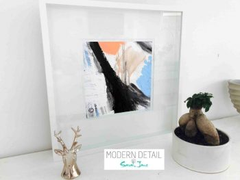 Sarah Jane Modern Art Print called Warrior II in a small white shadowbox frame - Modern Detail By Sarah Jane