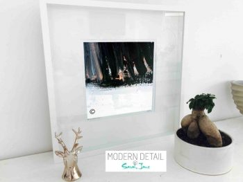 Sarah Jane Modern Art Print called Warrior VII in a small white shadowbox frame - Modern Detail By Sarah Jane