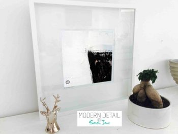 Sarah Jane Modern Art Print called Warrior XV in a small white shadowbox frame - Modern Detail By Sarah Jane