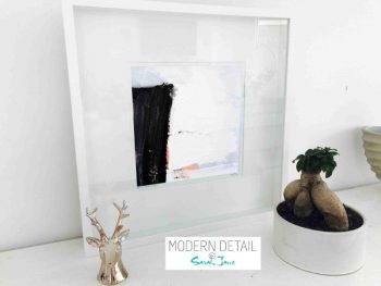Sarah Jane Modern Art Print called Warrior XVI in a small white shadowbox frame - Modern Detail By Sarah Jane