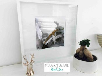 Sarah Jane Modern Art Print called Wind of Change II in a small white shadowbox frame - Modern Detail By Sarah Jane