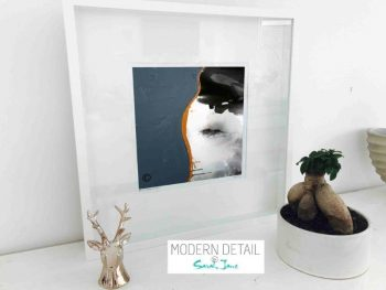 Sarah Jane Modern Art Print called Wind of Change IV in a small white shadowbox frame - Modern Detail By Sarah Jane