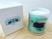 Sarah Jane Natural Soy Candle with artwork - On the Move VIc
