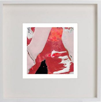 Sarah Jane Trendy Art Print called Unconditional Love LVb in a small white shadowbox frame - Modern Detail By Sarah Jane